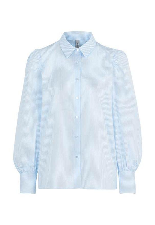Soyaconcept Koszula w kratkę Obion biały błękitny female biały/niebieski XXL (46). Kolor: niebieski, biały, wielokolorowy. Materiał: poliester. Wzór: kratka. Styl: klasyczny, elegancki