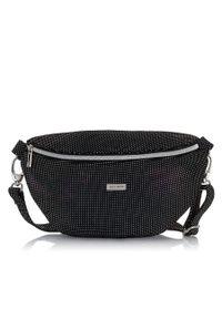 Czarna torebka PAOLO PERUZZI z nadrukiem