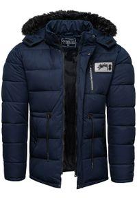 Niebieska kurtka Recea na zimę