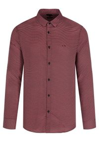 Czerwona koszula biznesowa Armani Exchange