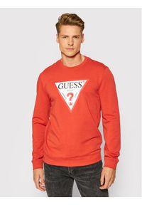 Guess Bluza M1RQ37 K6ZS1 Pomarańczowy Slim Fit. Kolor: pomarańczowy