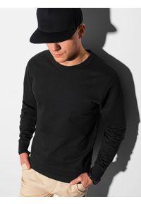 Ombre Clothing - Bluza męska bez kaptura B1153 - czarna - XXL. Typ kołnierza: bez kaptura. Kolor: czarny. Materiał: bawełna, jeans, poliester. Styl: klasyczny, elegancki