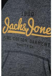 Niebieska bluza Jack & Jones casualowa, z kapturem