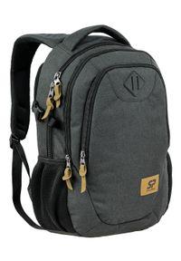 Smart Pack - Plecak Męski, Grafitowy, Kieszeń na Laptopa, Sportowy, Regulowane Zapięcie, z Portem USB -SMART PACK. Kolor: szary. Materiał: poliester. Styl: sportowy