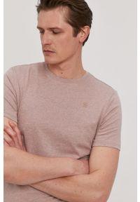 Różowy t-shirt G-Star RAW casualowy, polo