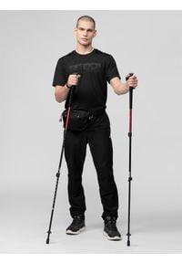 4f - Spodnie trekkingowe męskie. Kolor: czarny. Materiał: nylon, dzianina