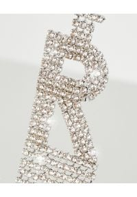 RETROFETE - Kolczyk z cyrkoniami R. Materiał: srebrne. Kolor: srebrny. Wzór: aplikacja. Kamień szlachetny: cyrkonia