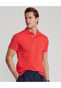 Ralph Lauren - RALPH LAUREN - Czerwona koszulka polo Slim Fit Stretch Mesh. Okazja: na co dzień. Typ kołnierza: polo. Kolor: czerwony. Materiał: mesh. Wzór: haft, ze splotem. Sezon: lato. Styl: sportowy, casual