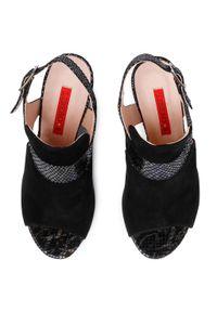 Czarne sandały Libero casualowe, na co dzień