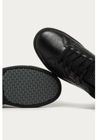 Czarne sneakersy Levi's® z okrągłym noskiem, na sznurówki, z cholewką