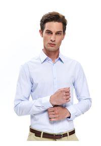 Niebieska koszula TOP SECRET na lato, długa