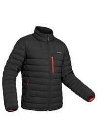 FORCLAZ - Kurtka trekkingowa puchowa - komfort -10°C - TREK 500 - męska. Kolor: czarny. Materiał: puch