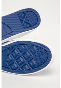 Białe sneakersy Converse na średnim obcasie, na obcasie