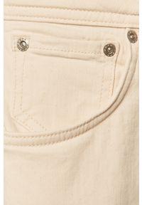Kremowe jeansy loose fit Pepe Jeans z podwyższonym stanem