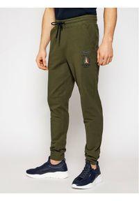 Zielone spodnie dresowe Aeronautica Militare