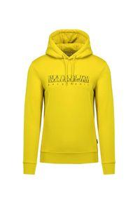 Napapijri - Bluza NAPAPIJRI BALLAR H. Kolor: żółty. Materiał: dzianina. Styl: sportowy