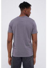 Tom Tailor - T-shirt bawełniany. Okazja: na co dzień. Kolor: szary. Materiał: bawełna. Wzór: nadruk. Styl: casual