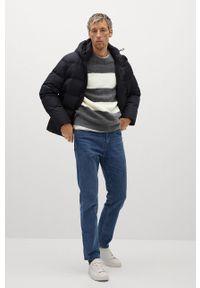 Mango Man - Sweter SPONGE. Okazja: na co dzień. Kolor: szary. Materiał: dzianina. Długość rękawa: długi rękaw. Długość: długie. Styl: casual