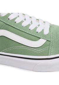Vans - Tenisówki VANS - Old Skool VN0A3WKT4G61 Shale Green/True White. Okazja: na co dzień. Kolor: zielony. Materiał: materiał, zamsz, skóra. Szerokość cholewki: normalna. Styl: casual. Model: Vans Old Skool