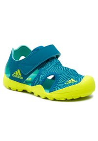 Adidas - Sandały adidas - Captain Toey K FY9892 Acimin/Syello/Acttea. Kolor: zielony. Materiał: skóra, materiał