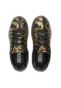 Versace Jeans Couture - Sneakersy VERSACE JEANS COUTURE - E0VWASP7 71973 M27. Kolor: czarny, wielokolorowy, złoty. Materiał: skóra. Szerokość cholewki: normalna. Obcas: na płaskiej podeszwie
