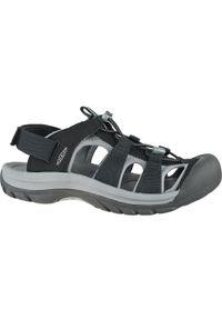 Czarne sandały sportowe keen w kolorowe wzory