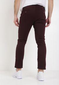 Born2be - Bordowe Spodnie Amyssa. Kolor: czerwony. Materiał: bawełna, dzianina