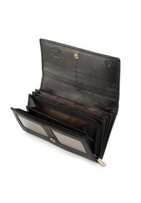 Wittchen - Damski portfel skórzany o prostym kroju. Kolor: czarny. Materiał: skóra