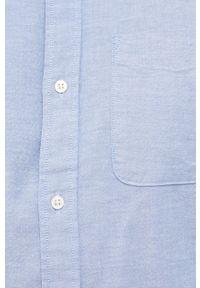 Premium by Jack&Jones - Koszula. Typ kołnierza: button down. Kolor: niebieski. Materiał: bawełna, tkanina. Długość rękawa: długi rękaw. Długość: długie. Wzór: gładki
