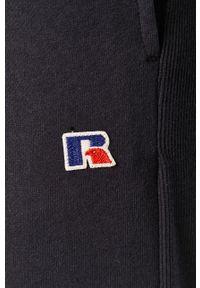 Niebieskie spodnie dresowe Russell Athletic z aplikacjami