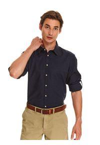 Niebieska koszula TOP SECRET z klasycznym kołnierzykiem, klasyczna