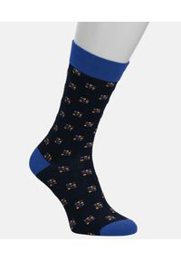Kazar - Skarpety bawełniane męskie. Kolor: niebieski. Materiał: bawełna