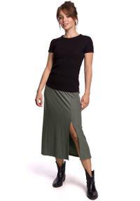 Brązowa spódnica trapezowa MOE