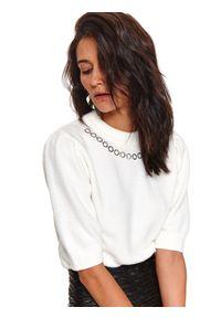 Biały sweter TOP SECRET krótki, z krótkim rękawem #6