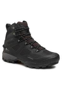 Mammut Trekkingi Ducan Pro High Gtx GORE-TEX 3030-03890-0486-1075 Czarny. Kolor: czarny. Technologia: Gore-Tex. Sport: turystyka piesza