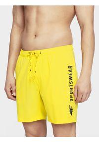 Żółte szorty 4f na plażę, sportowe
