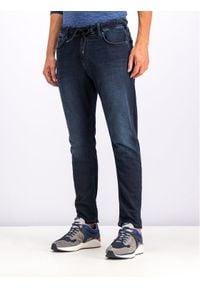 Pepe Jeans Jeansy Johnson PM204385 Granatowy Relaxed Fit. Kolor: niebieski. Materiał: elastan, bawełna