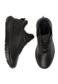 Czarne sneakersy ecco z cholewką, Gore-Tex