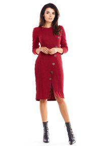 Czerwona sukienka wizytowa Awama