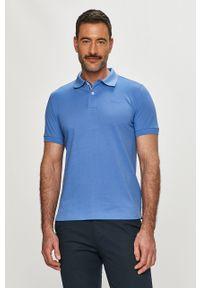 Morska koszulka polo Geox gładkie, casualowa, krótka