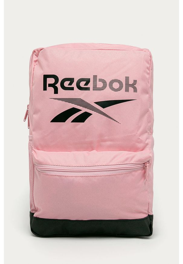 Reebok - Plecak. Kolor: różowy. Materiał: materiał, poliester. Wzór: nadruk