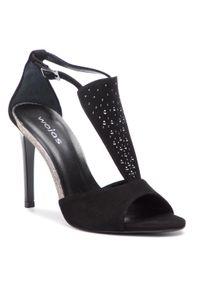 Czarne sandały Wojas eleganckie