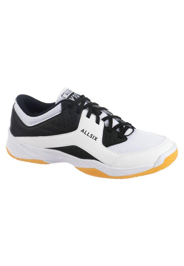 ALLSIX - Buty do siatkówki męskie Allsix V100. Kolor: biały, czarny, wielokolorowy. Materiał: materiał. Sport: siatkówka