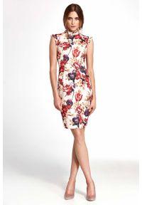 Sukienka Nife w kwiaty, z falbankami