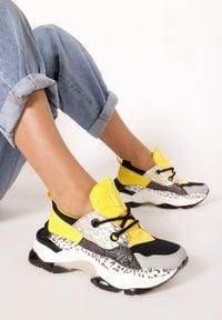 Born2be - Żółte Sneakersy Prosis. Kolor: żółty