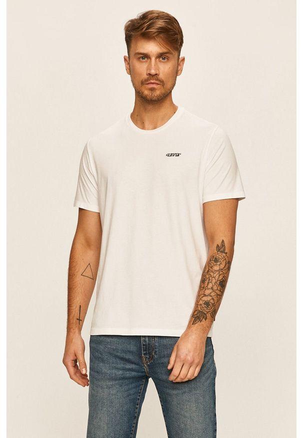 Biały t-shirt Levi's® na co dzień, z nadrukiem, biznesowy