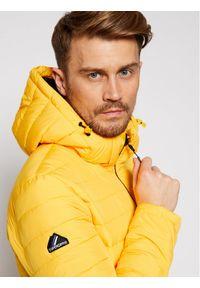 Żółta kurtka puchowa Superdry