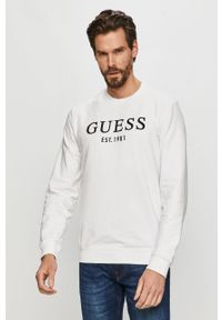 Biała bluza nierozpinana Guess casualowa, na co dzień
