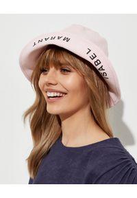 ISABEL MARANT - Różowy kapelusz Loiena. Kolor: różowy, fioletowy, wielokolorowy. Materiał: bawełna. Wzór: aplikacja. Sezon: lato. Styl: casual