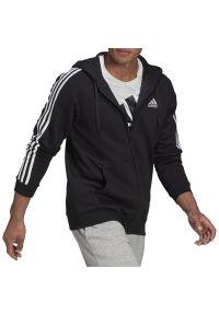 Adidas - adidas Essentials Fleece 3-Stripes Full-Zip Hoodie > GK9051. Okazja: na co dzień. Typ kołnierza: kaptur. Materiał: poliester, polar, wiskoza, materiał, bawełna. Styl: klasyczny, casual